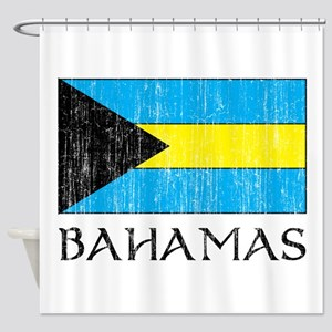 Bahamas Flag Shower Curtain