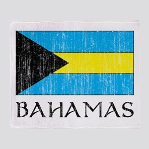 Bahamas Flag Throw Blanket