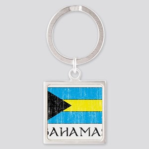Bahamas Flag Square Keychain