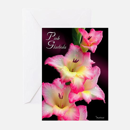 Pink Gladiola Greeting Cards (Pk of 10)
