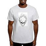 Smokin' Skull Ash Grey T-Shirt