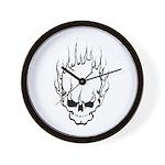 Smokin' Skull Wall Clock