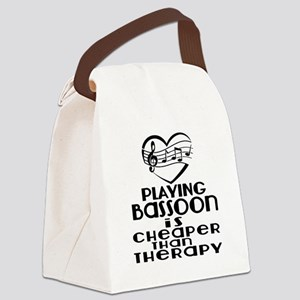 Bassoon Is Cheaper Than Therapy Canvas Lunch Bag