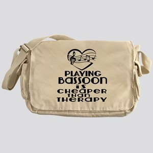 Bassoon Is Cheaper Than Therapy Messenger Bag