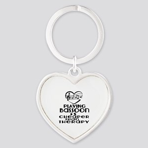 Bassoon Is Cheaper Than Therapy Heart Keychain