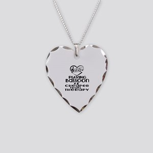 Bassoon Is Cheaper Than Thera Necklace Heart Charm