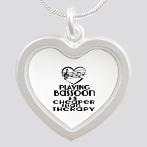 Bassoon Is Cheaper Than Ther Silver Heart Necklace