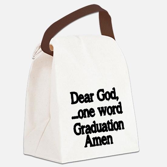 Dear God,One Word Canvas Lunch Bag