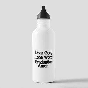 Dear God,One Word Water Bottle