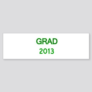 GRAD 2013-green Bumper Sticker