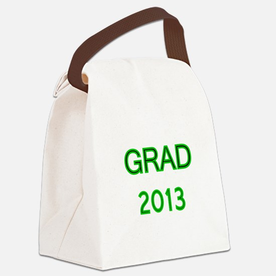 GRAD 2013-green Canvas Lunch Bag