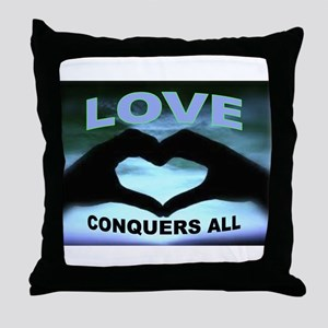 LOVE CONQUERS Throw Pillow