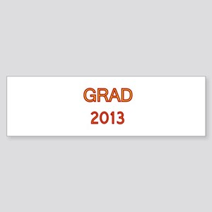 GRAD 2013-marron-gold Bumper Sticker