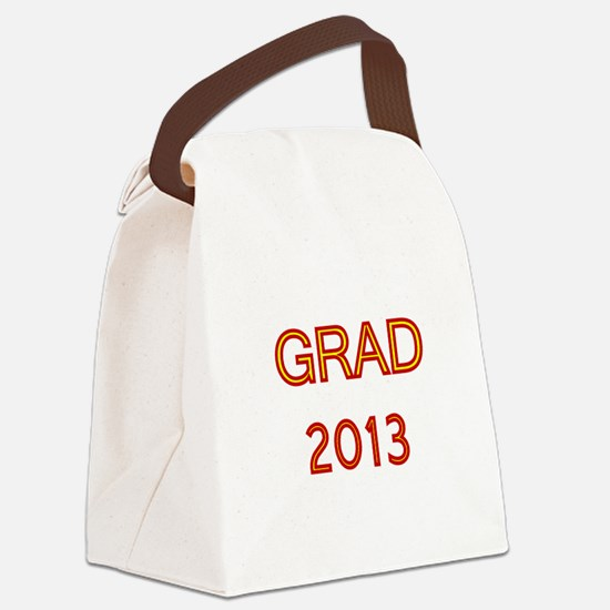 GRAD 2013-marron-gold Canvas Lunch Bag