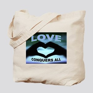 LOVE CONQUERS Tote Bag