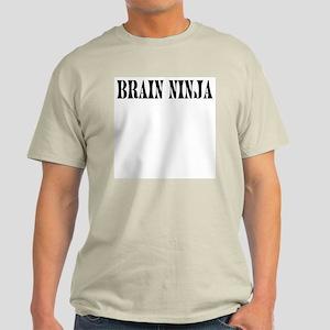 Brain Ninja Ash Grey T-Shirt