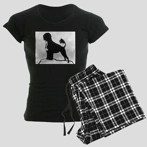 Portuguese Water Dog Sillhouette on rocks Pajamas