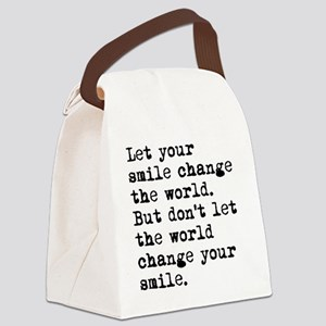 Smile Change The World Canvas Lunch Bag