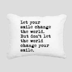 Smile Change The World Rectangular Canvas Pillow