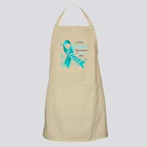 I Wear Teal Because I Love My Mom Light Apron