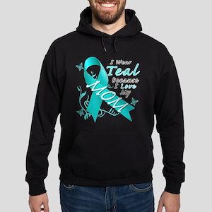 I Wear Teal Because I Love My Mom Sweatshirt