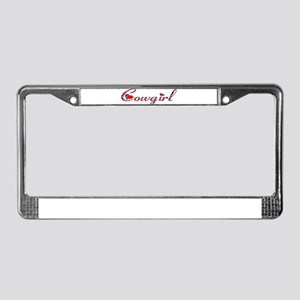 Cowgirls License Plate Frame