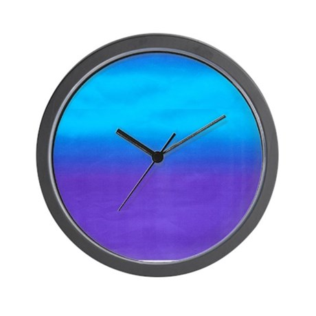 Blue and Purple Ombre Wall Clock