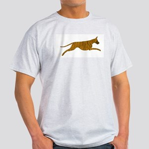 Leaping Brindle Great Dane Light T-Shirt