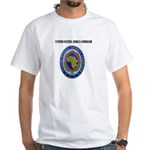 United States Africa Command with Text White T-Shi