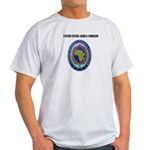 United States Africa Command with Text Light T-Shi