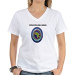 United States Africa Command with Text Women's V-N