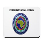 United States Africa Command with Text Mousepad