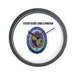 United States Africa Command with Text Wall Clock