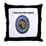 United States Africa Command with Text Throw Pillo