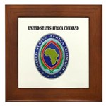 United States Africa Command with Text Framed Tile