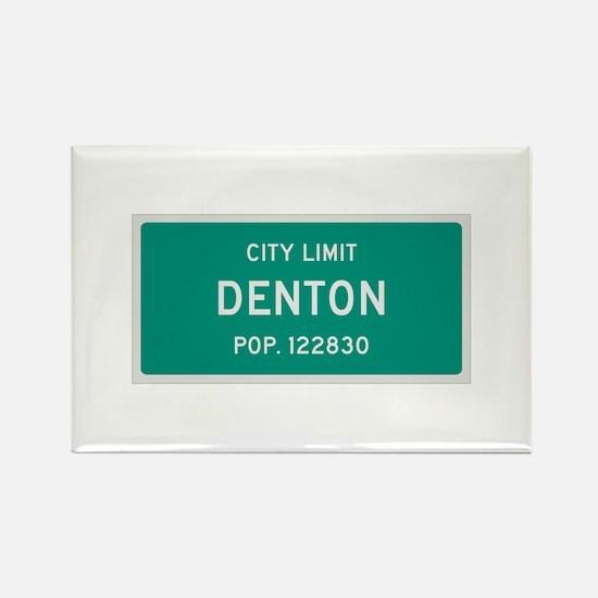 Denton, Texas City Limits Rectangle Magnet