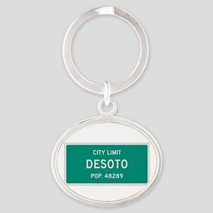 DeSoto, Texas City Limits Oval Keychain