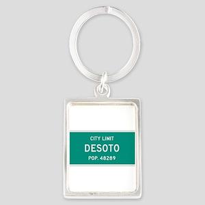 DeSoto, Texas City Limits Portrait Keychain