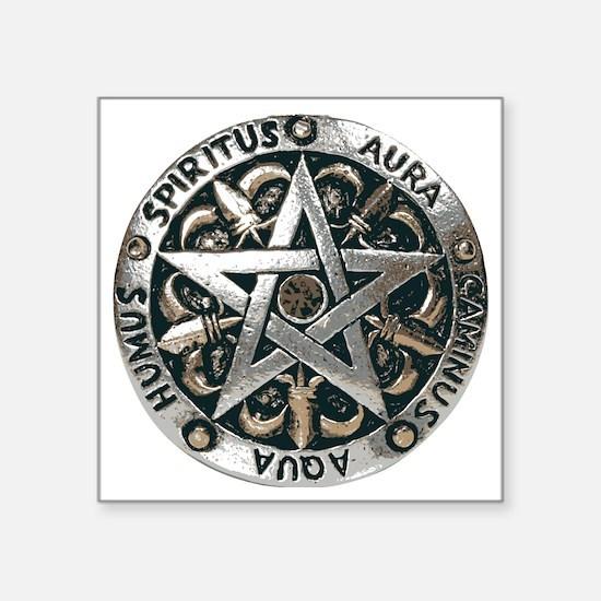 WICCAN Pentagram Sticker