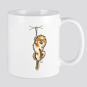Clingy Orange Pomeranian Mug