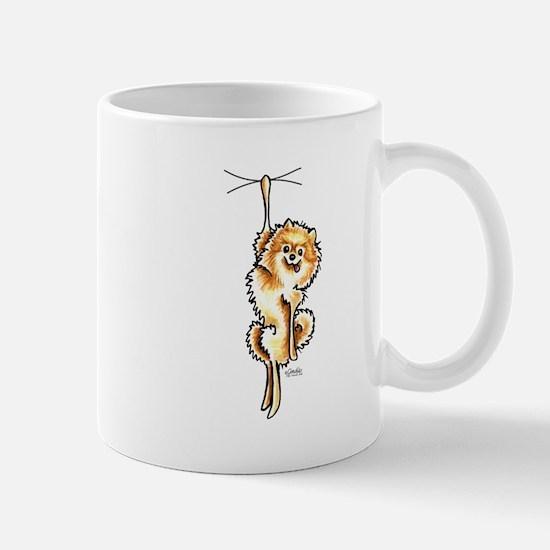 Clingy Orange Pomeranian Mug