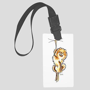 Clingy Orange Pomeranian Luggage Tag