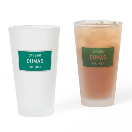 Dumas, Texas City Limits Drinking Glass