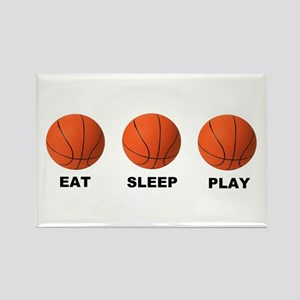 Basketball EAT SLEEP PLAY LITE Rectangle Magnet