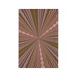 Earth Tone Starburst Rectangle Magnet (100 pack)