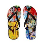 Colorful Graffiti Flip Flops