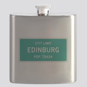 Edinburg, Texas City Limits Flask
