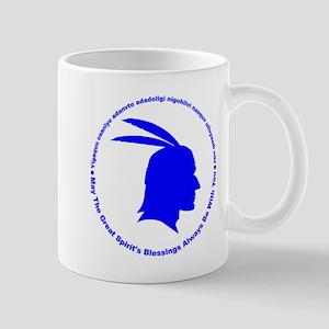 Great Spirits Blessings Blue Mug