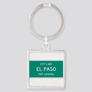El Paso, Texas City Limits Square Keychain