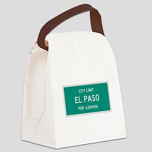 El Paso, Texas City Limits Canvas Lunch Bag